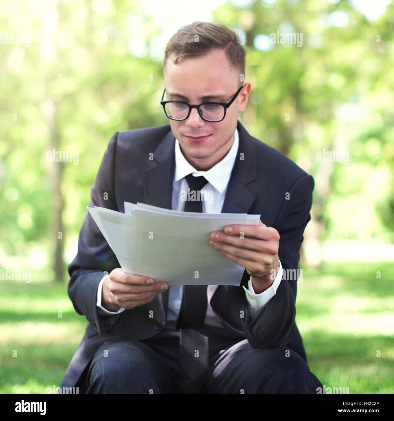 Businessman Stressful Sadness Failure Concept Stock Photo