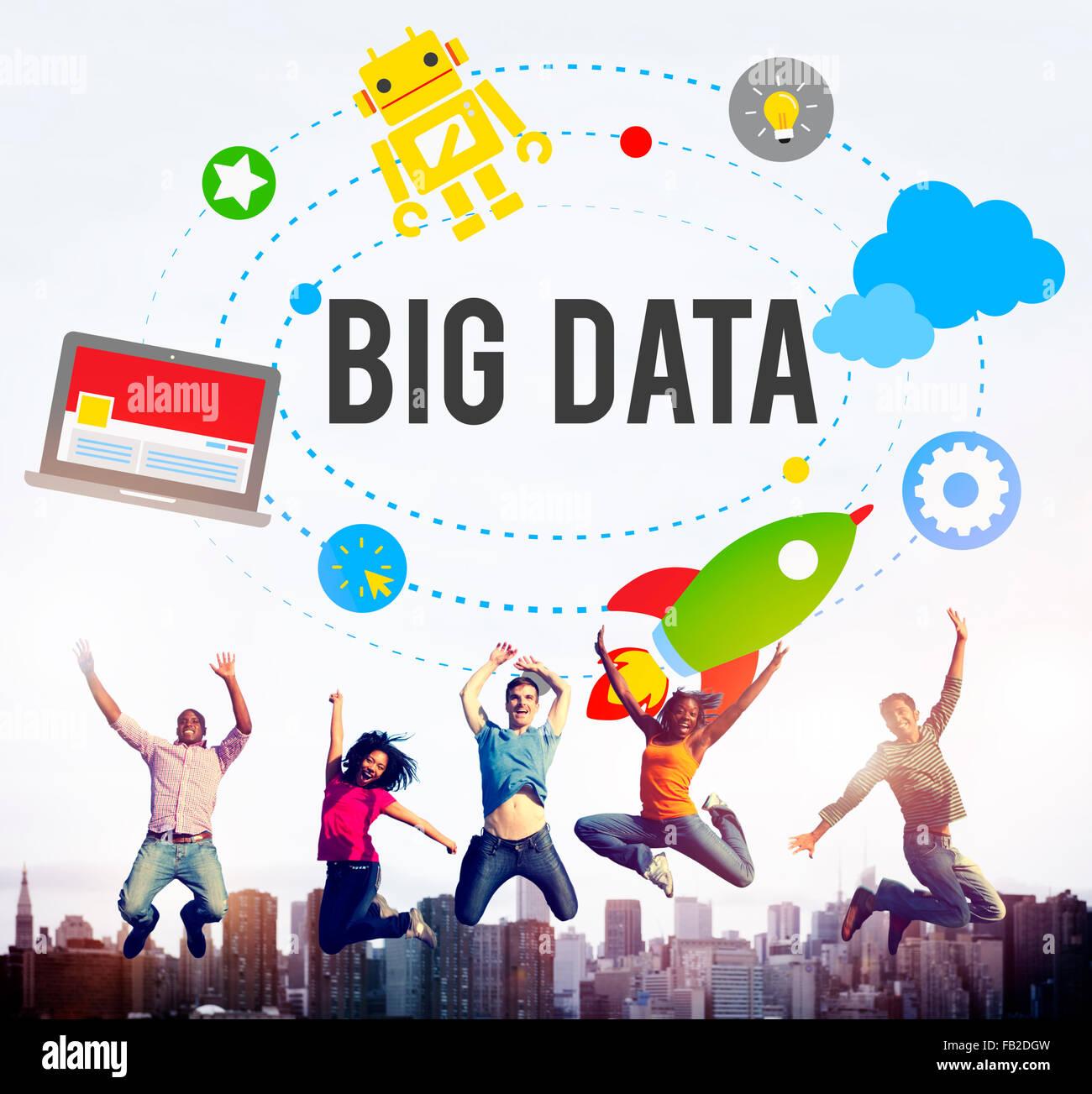 Big Data Database Storage Analysis Security Concept - Stock Image