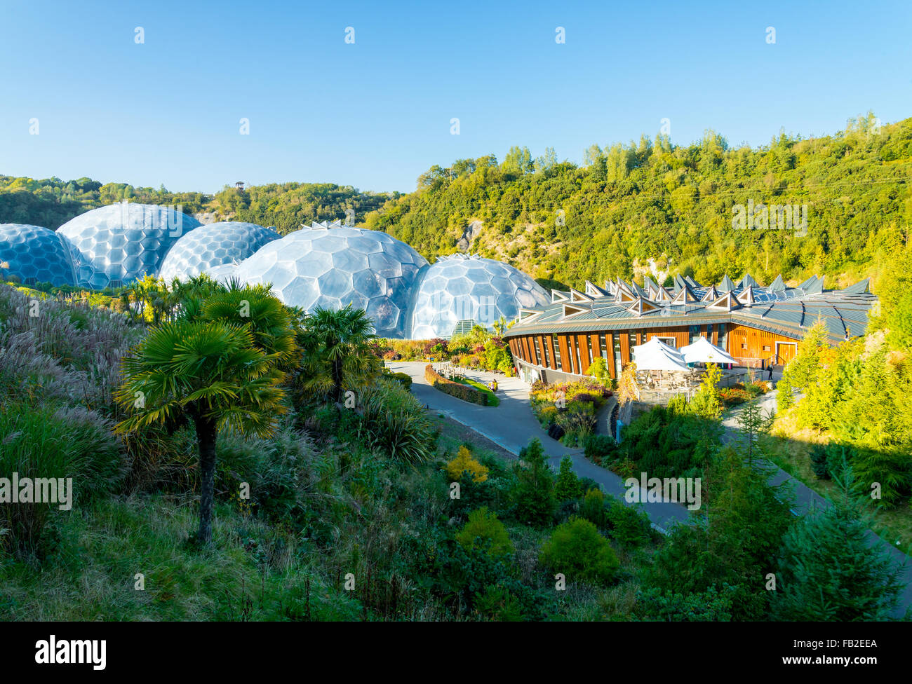 Afternoon Eden Project in Cornwall - Stock Image