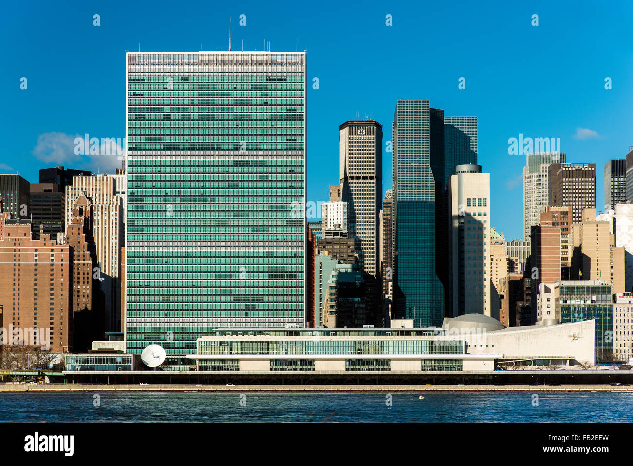 The Headquarters of the United Nations, Manhattan, New York, USA - Stock Image