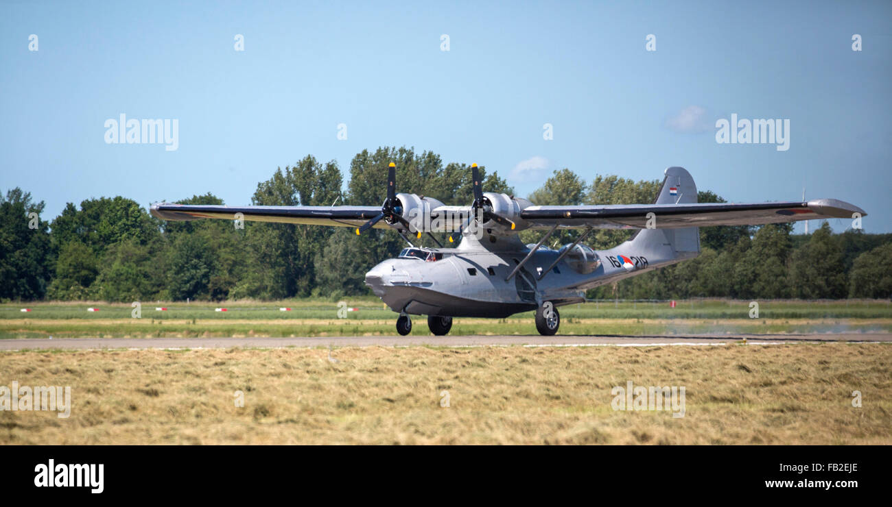 Netherlands, Lelystad, Catalina PBY-5A flying boat or hydroplane - Stock Image