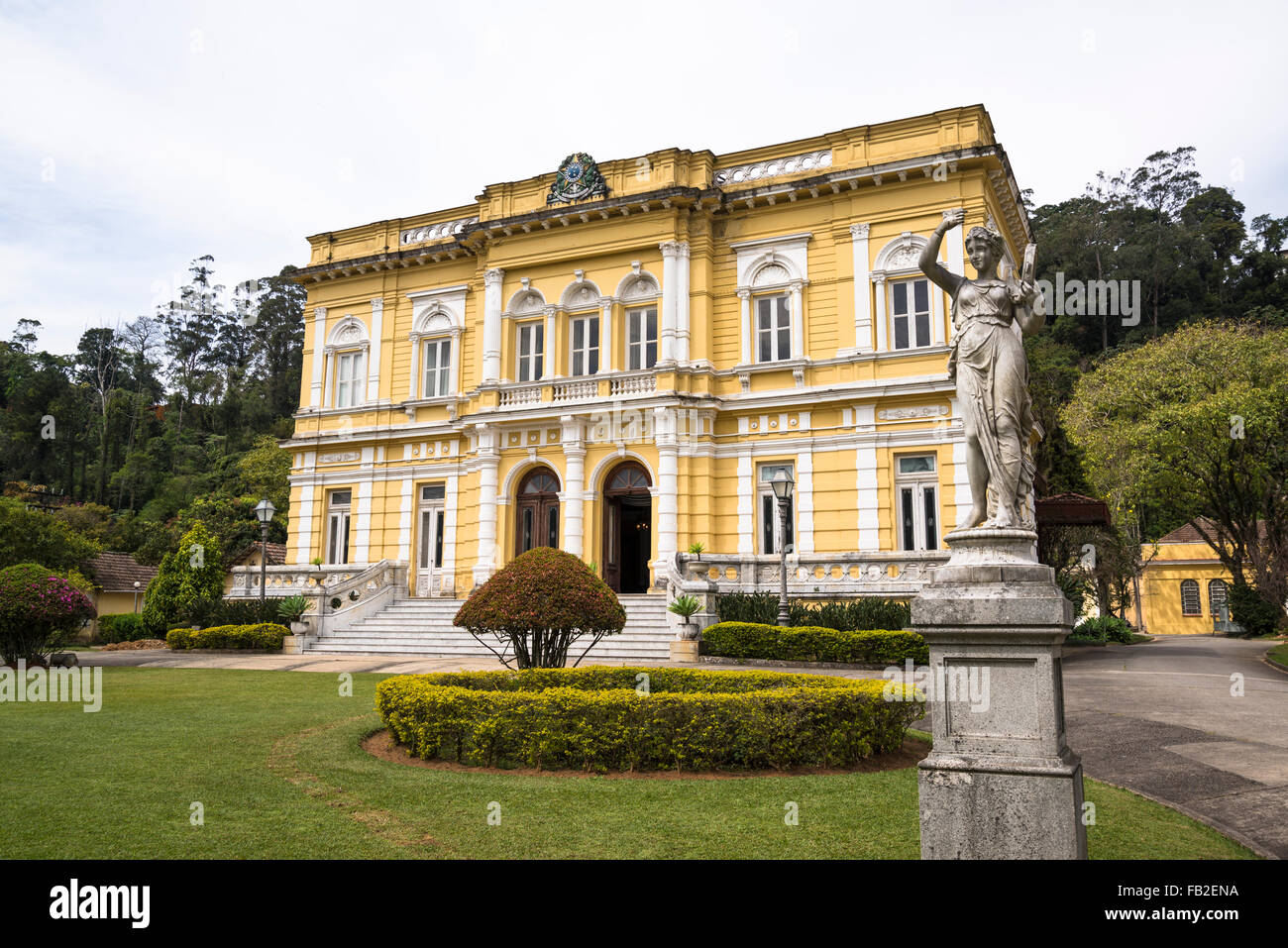 Rio Negro Palace, official summer residence of the Presidents of Brazil, Petropolis, state of Rio de Janeiro, Brazil - Stock Image