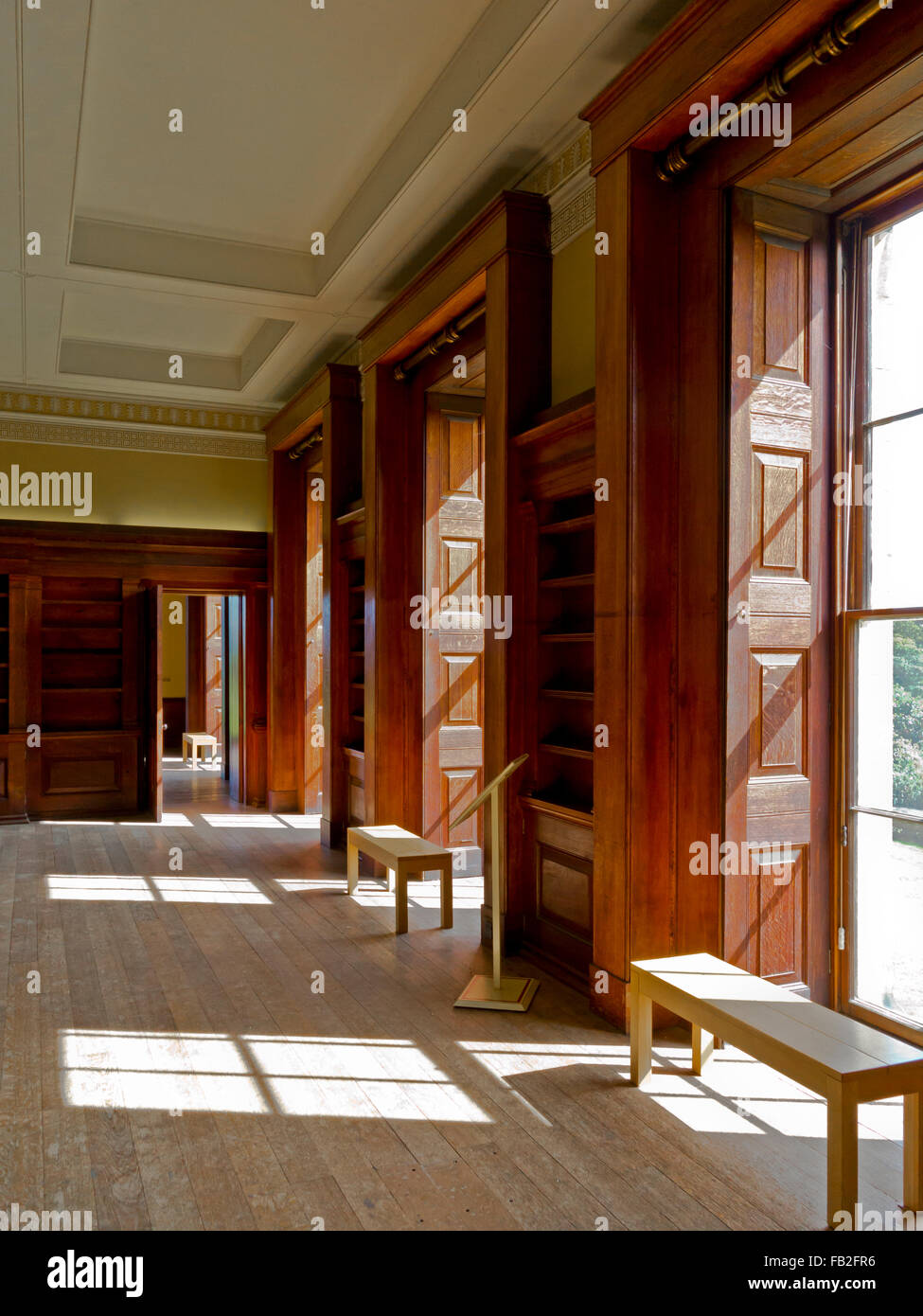 Library Interior At Belsay Hall A 19th Century Country Mansion In Northumberland England UK Built 1817 And Now Empty