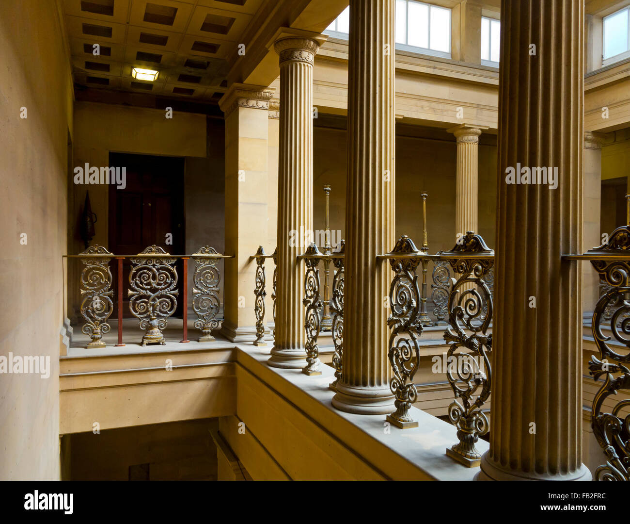 Hall Interior At Belsay A 19th Century Country Mansion In Northumberland England UK Built 1817 And Now Empty