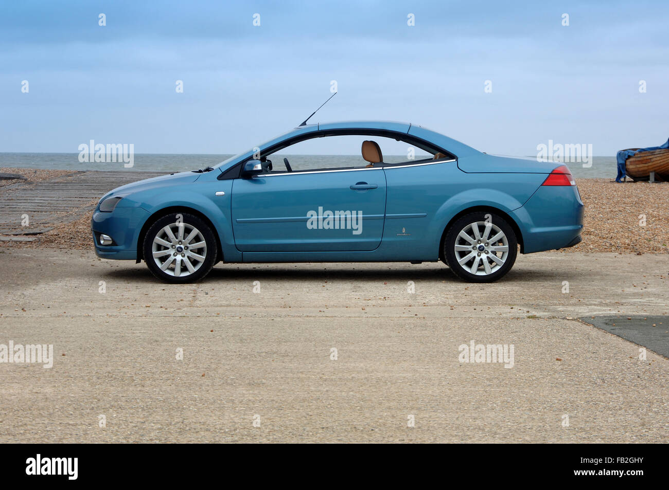 Ford Focus CC (Coupe Convertible) open top car with folding metal roof Stock Photo