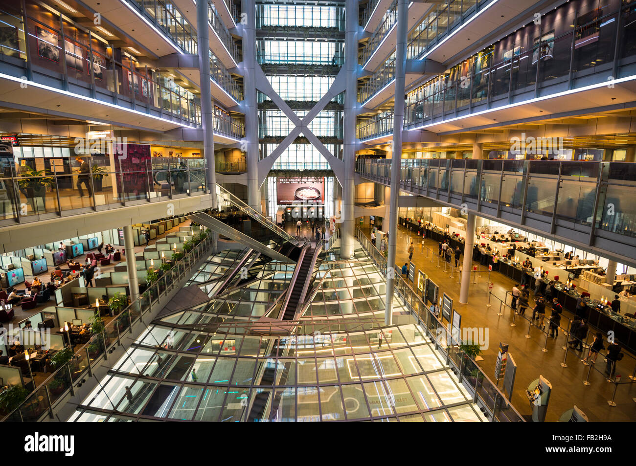 The HSBC headquarters in central, designed by Norman Foster, Hong Kong, China. - Stock Image