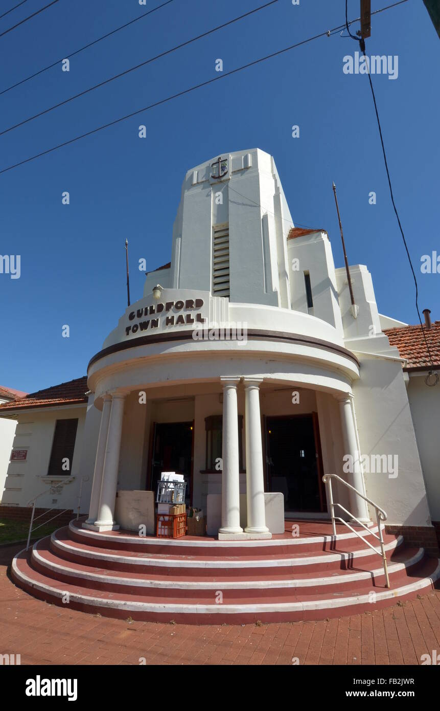 Guildford Town Hall in Guildford, Australia - Stock Image