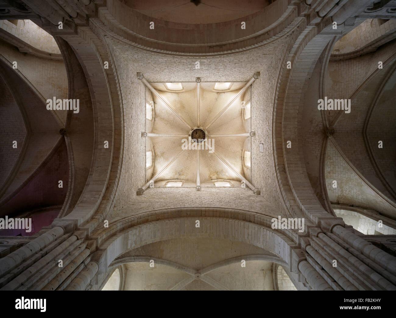 Saint-Martin-de-Boscherville, Abteikirche, Blick in den Vierungsturm - Stock Image