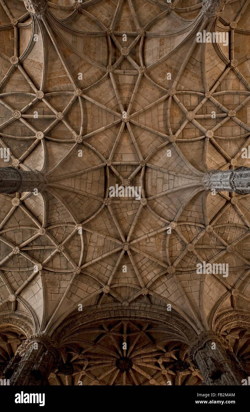 Belem, Monastery Hieronimite, Mosteiro dos Jerónimos, Hieronimuskloster, Hieron - Stock Image