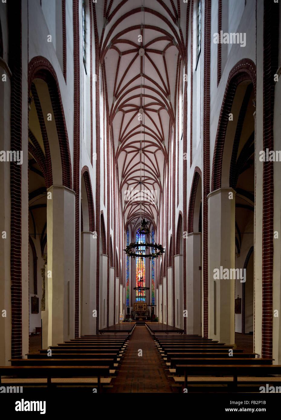 Brzeg Brieg, Nikolaikirche - Stock Image