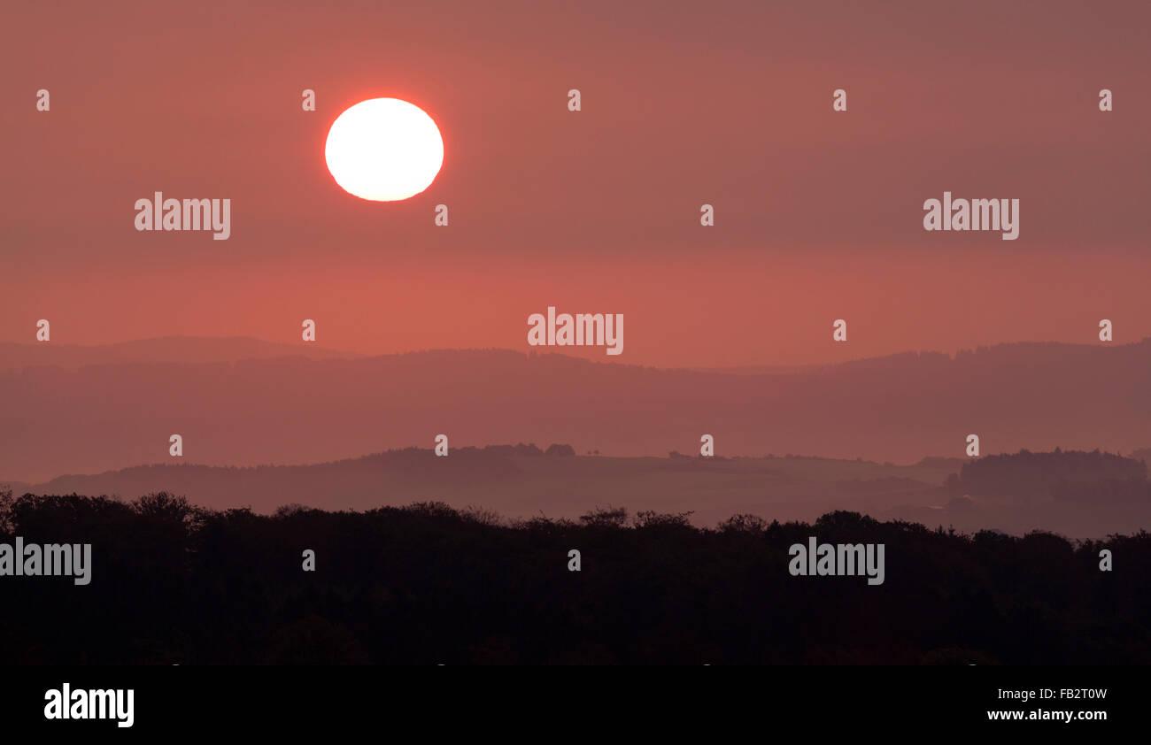Eifellandschaft, Sonnenaufgang - Stock Image