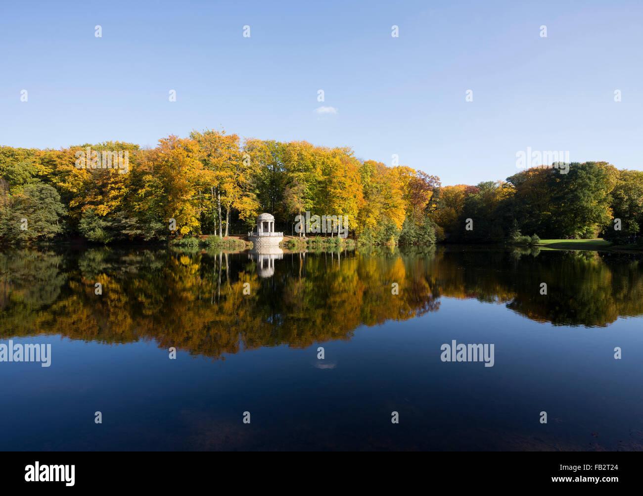 Krefeld, Stadtwald mit Deußtempel - Stock Image