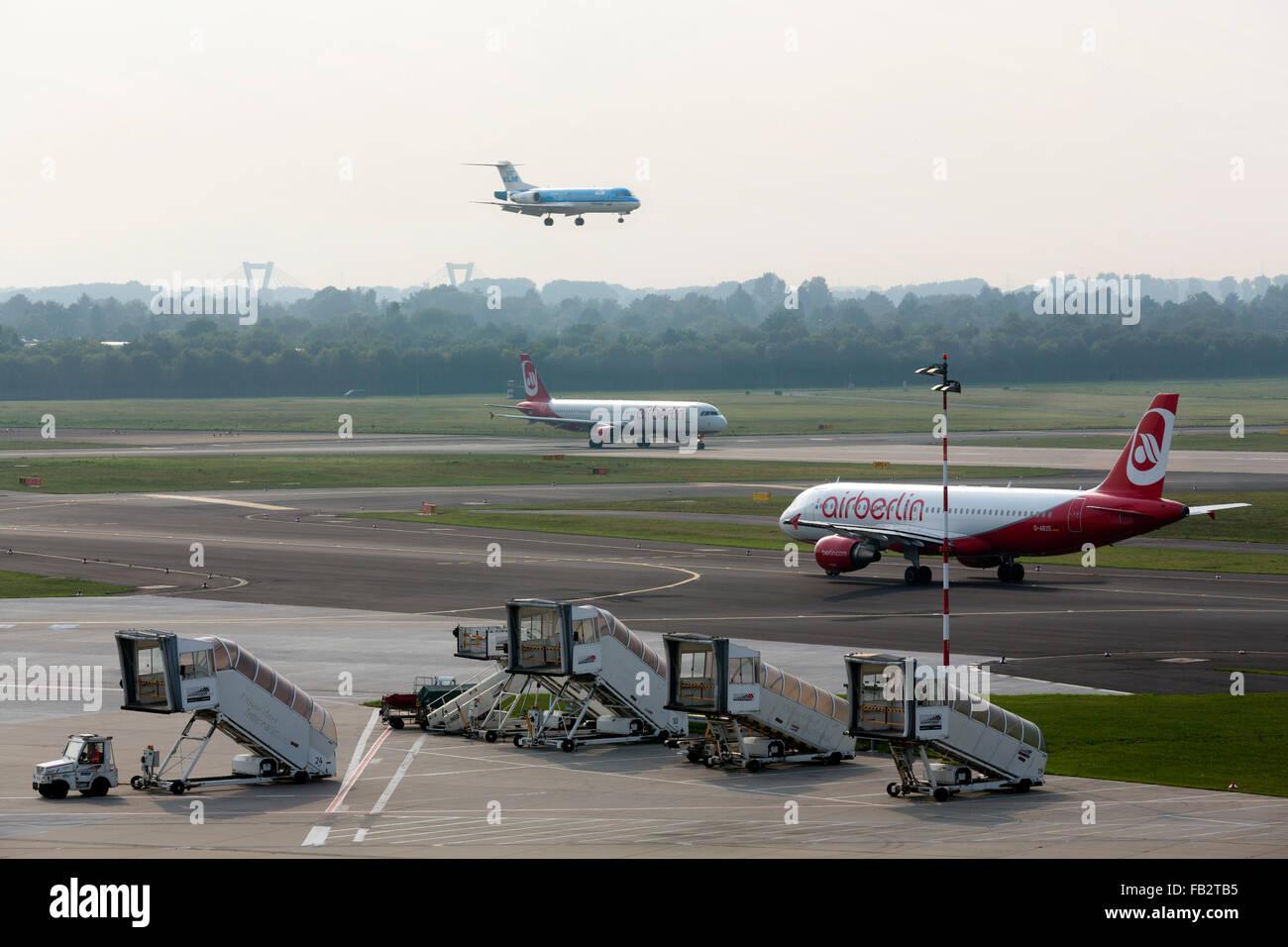 Düsseldorf, Flughafen - Stock Image