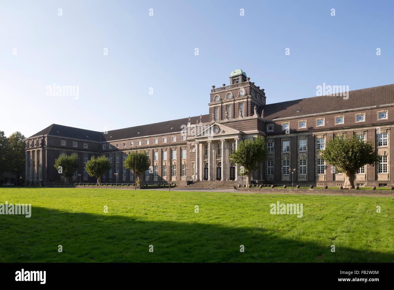 Krefeld, Moltke-Gymnasium Stock Photo