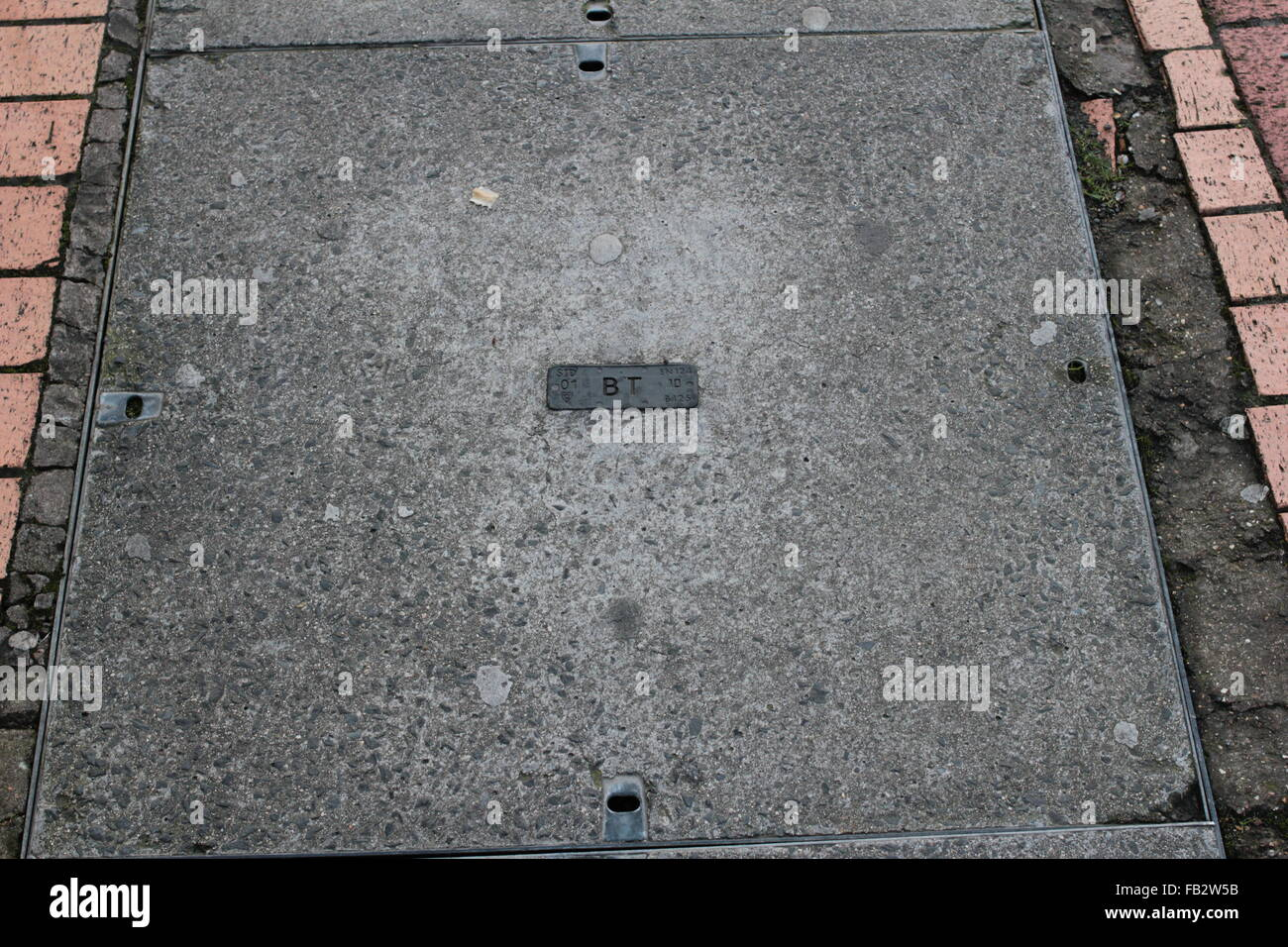 Telephone company access cover - Stock Image