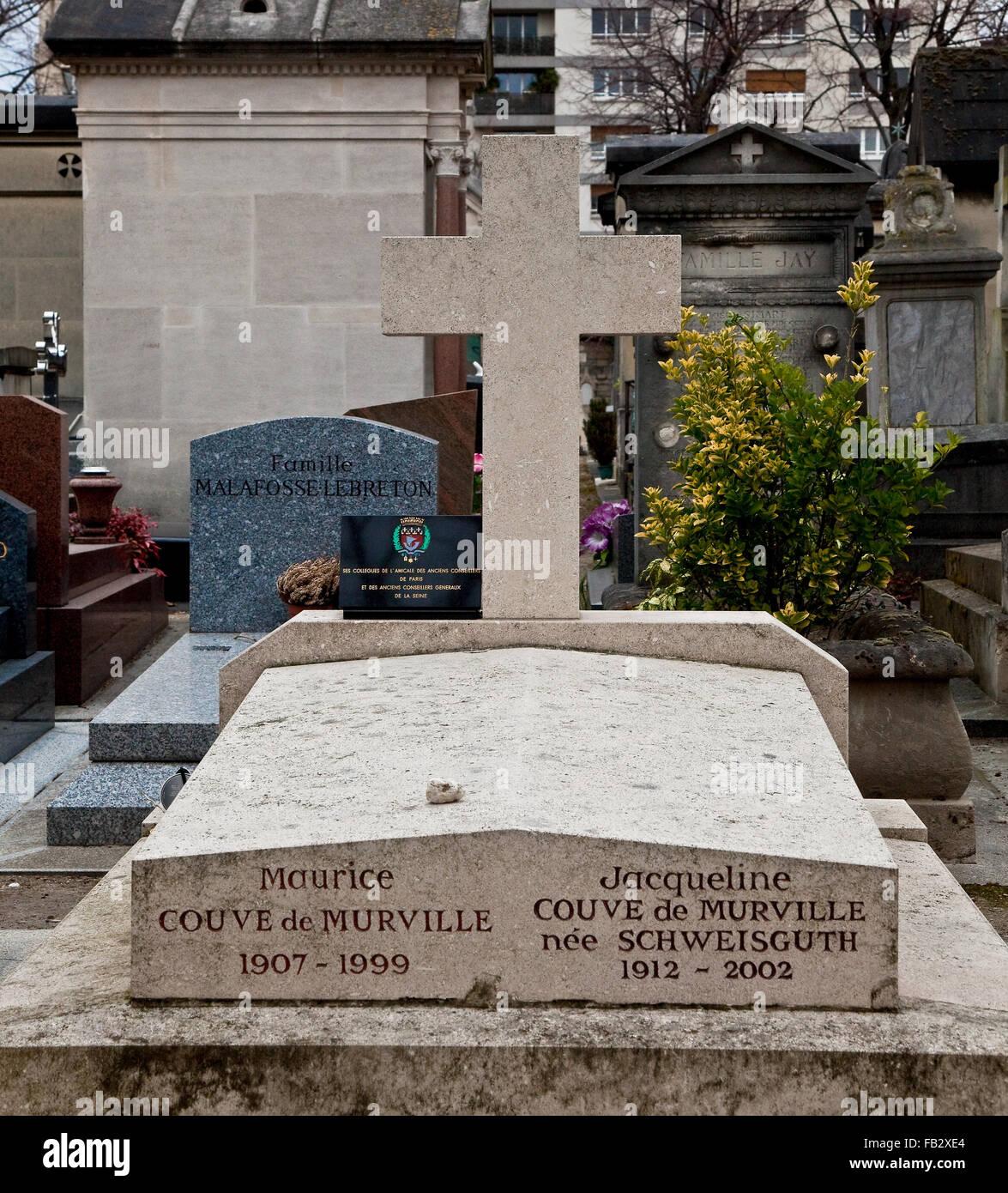 Paris, Friedhof Montparnasse begründet 1824 - Stock Image