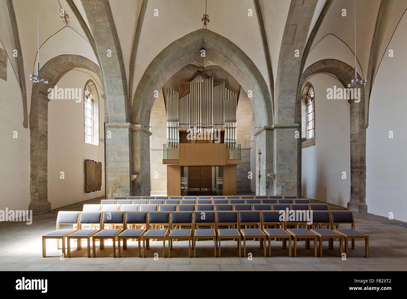 Schwerte, Kirche St. Viktor, Innenraum nach Osten - Stock Image
