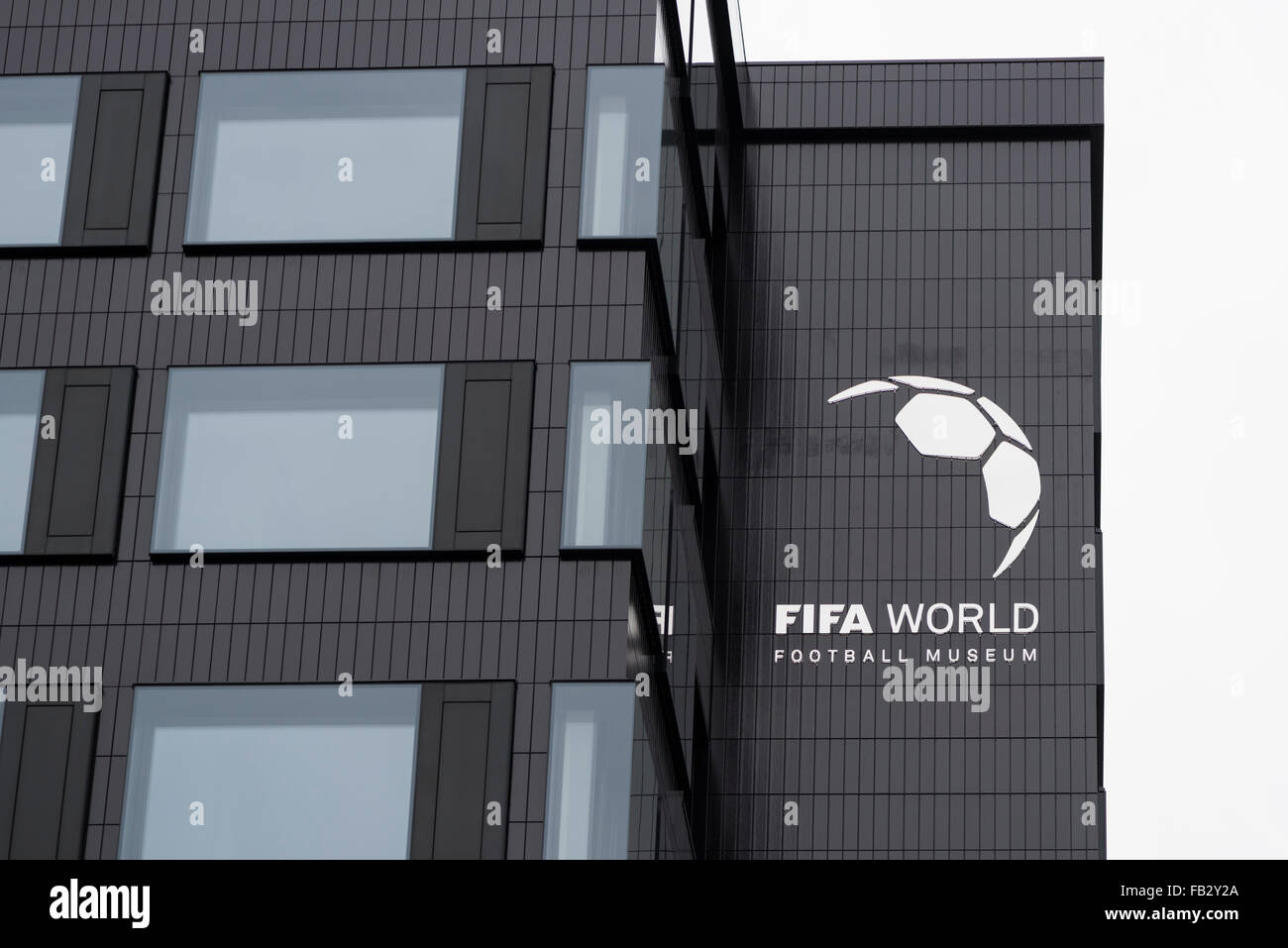 Outside view of the future FIFA World Football Museum at Zurich, Switzerland. - Stock Image