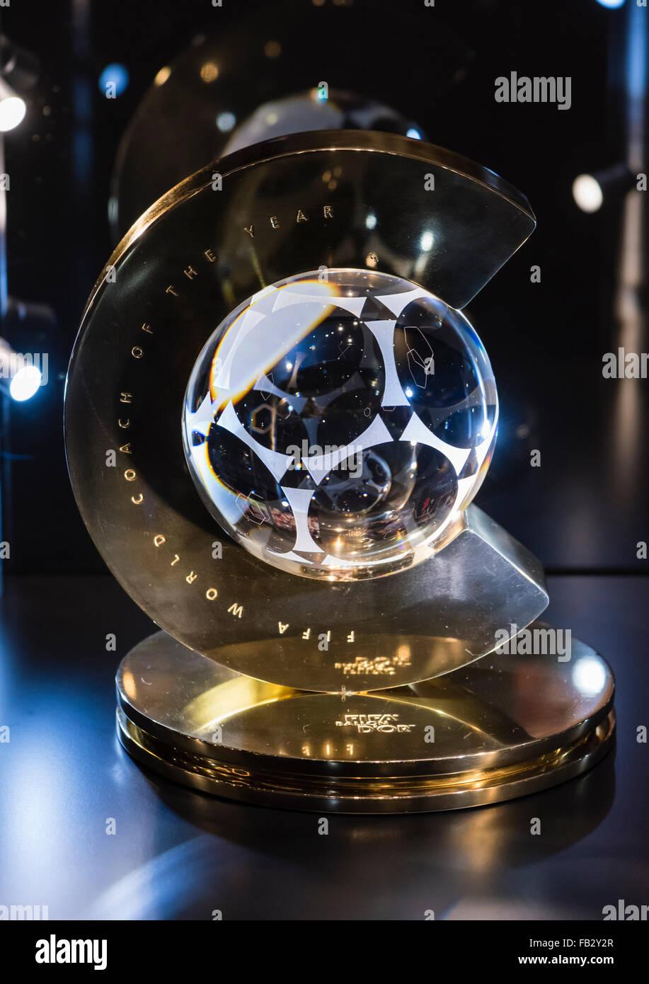 fifa world coach of the year award trophy stock photo 92878207