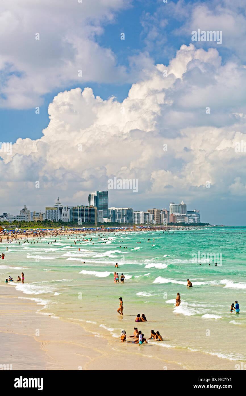 South Beach, Miami Beach, Gold Coast, Miami, Florida, USA - Stock Image