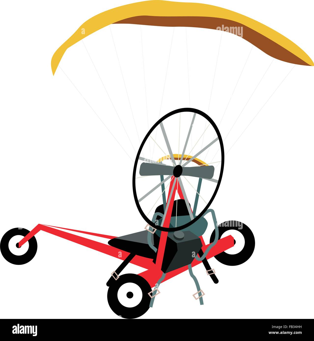 Illustration of Powered Paraglider or Electric Paramotor