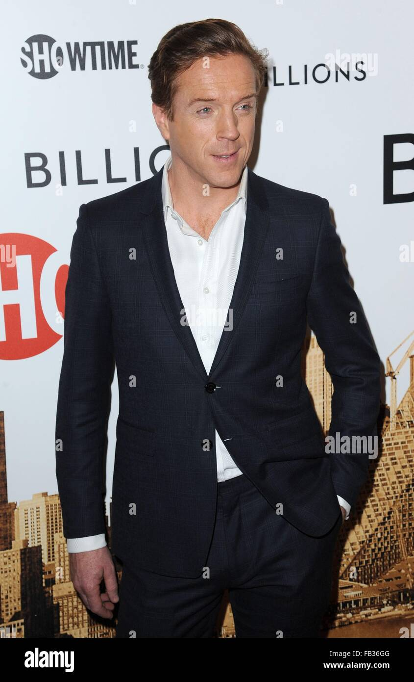 New York, NY, USA. 7th Jan, 2016. Damian Lewis at arrivals for BILLIONS Showtime Series Premiere, Museum of Modern - Stock Image
