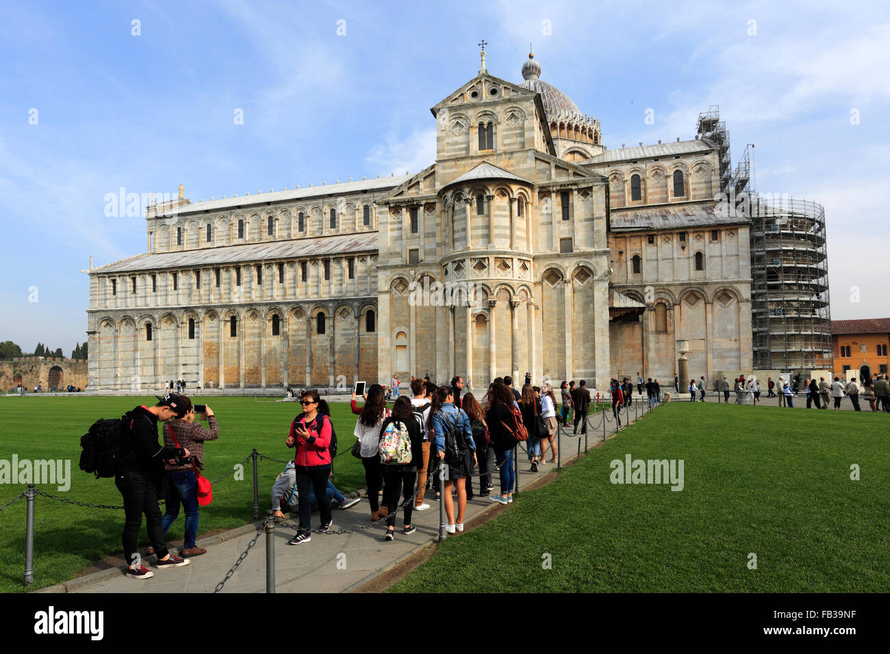Summer view of the Duomo Cathedral, Square of Miracles, Pisa city, UNESCO World Heritage Site, Tuscany, Italy, Europe. Stock Photo