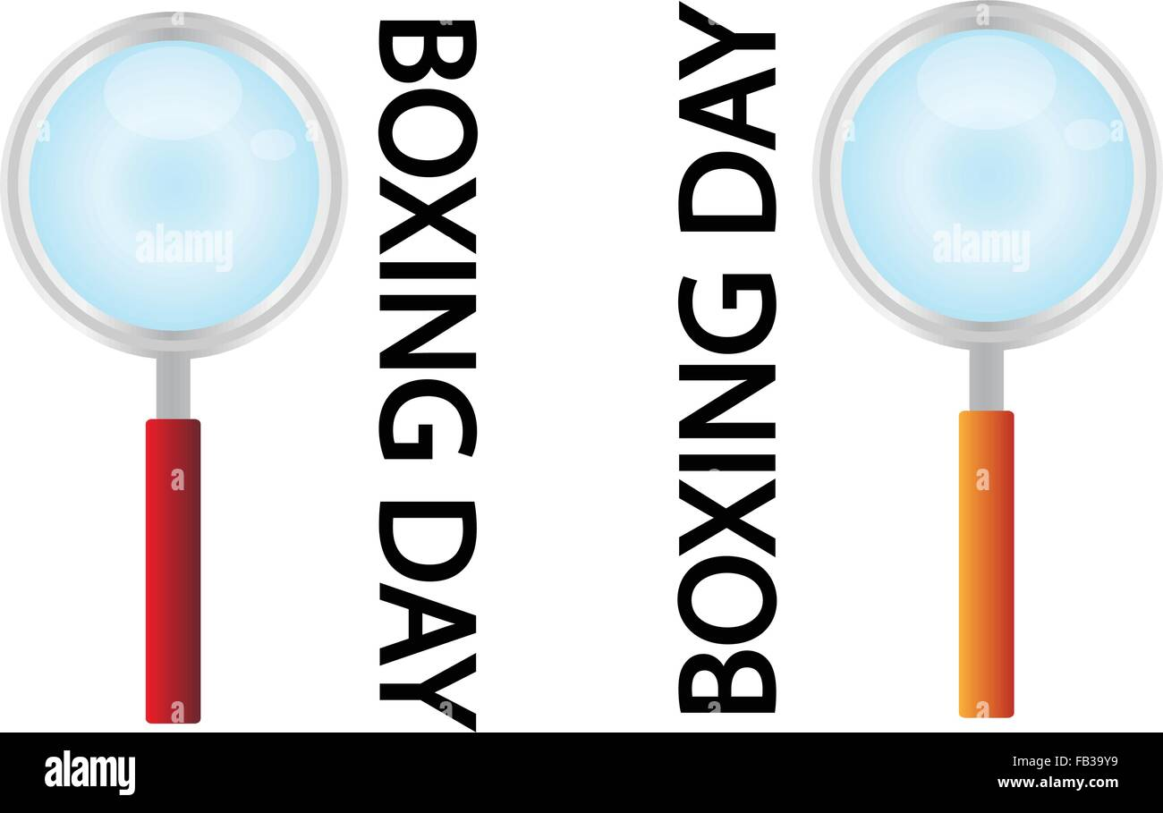 Magnifying Glass Searching Cheap Product on Boxing Day Best Buy Deal ...