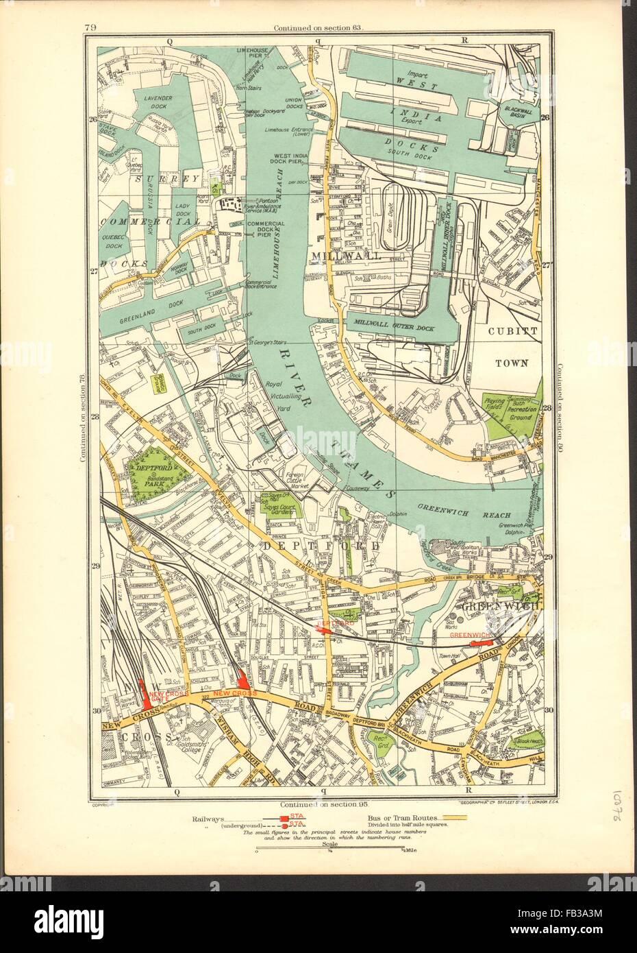 Old Ordnance Survey Map  Rotherhithe  near Stepney London 1868 Sheet 78 New