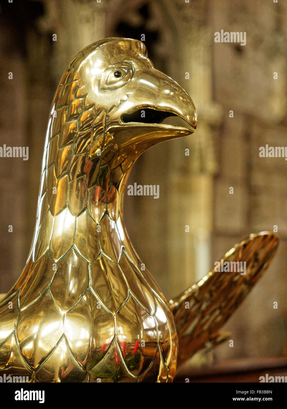 Brass Lectern - Stock Image