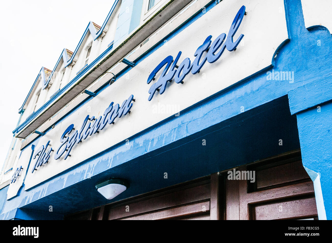 The Eglinton Hotel, Portrush, infamous for being reported by the Belfast Telegraph as the worst hotel in Northern - Stock Image