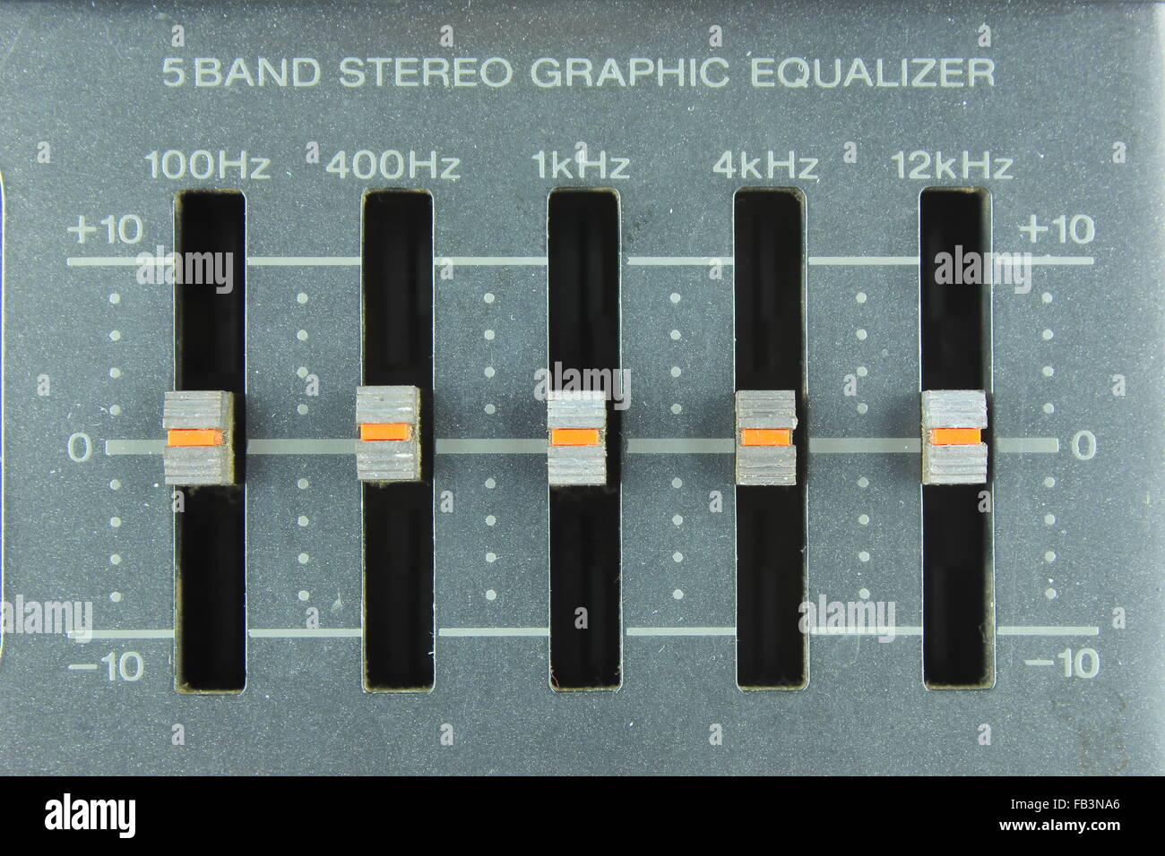 Frequency Equalizer Stock Photos Images 5 Band Graphic Equaliser Circuit Diagram Five Stereo Image