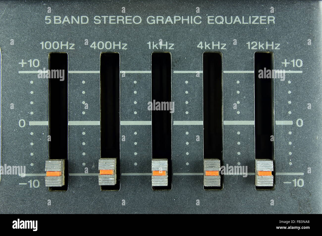 five band stereo graphic equalizer stock photo 92895664 alamy rh alamy com 5 band graphic equalizer circuit diagram 5 band graphic equalizer plug in