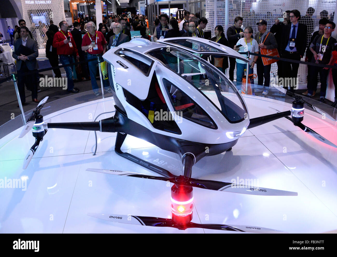 EHANG 184 Drone That Carries Two People On Display During The 2016 CES Show FridayPhoto By Gene Blevins LA Daily News ZumaPress Credit ZUMA