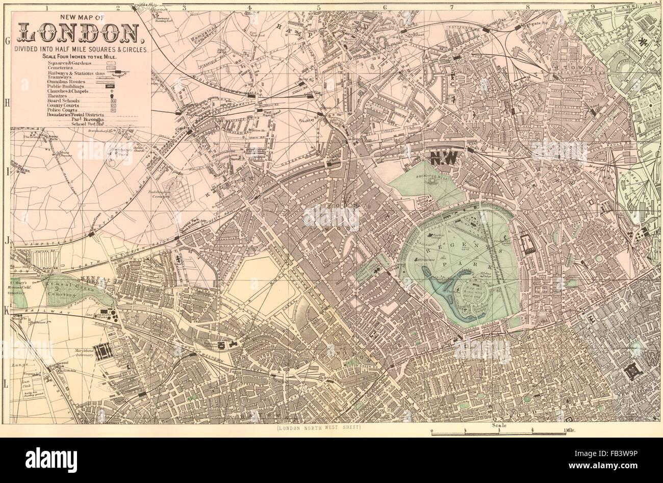 London North West St John S Wood Marylebone Camden Town Plan Stock