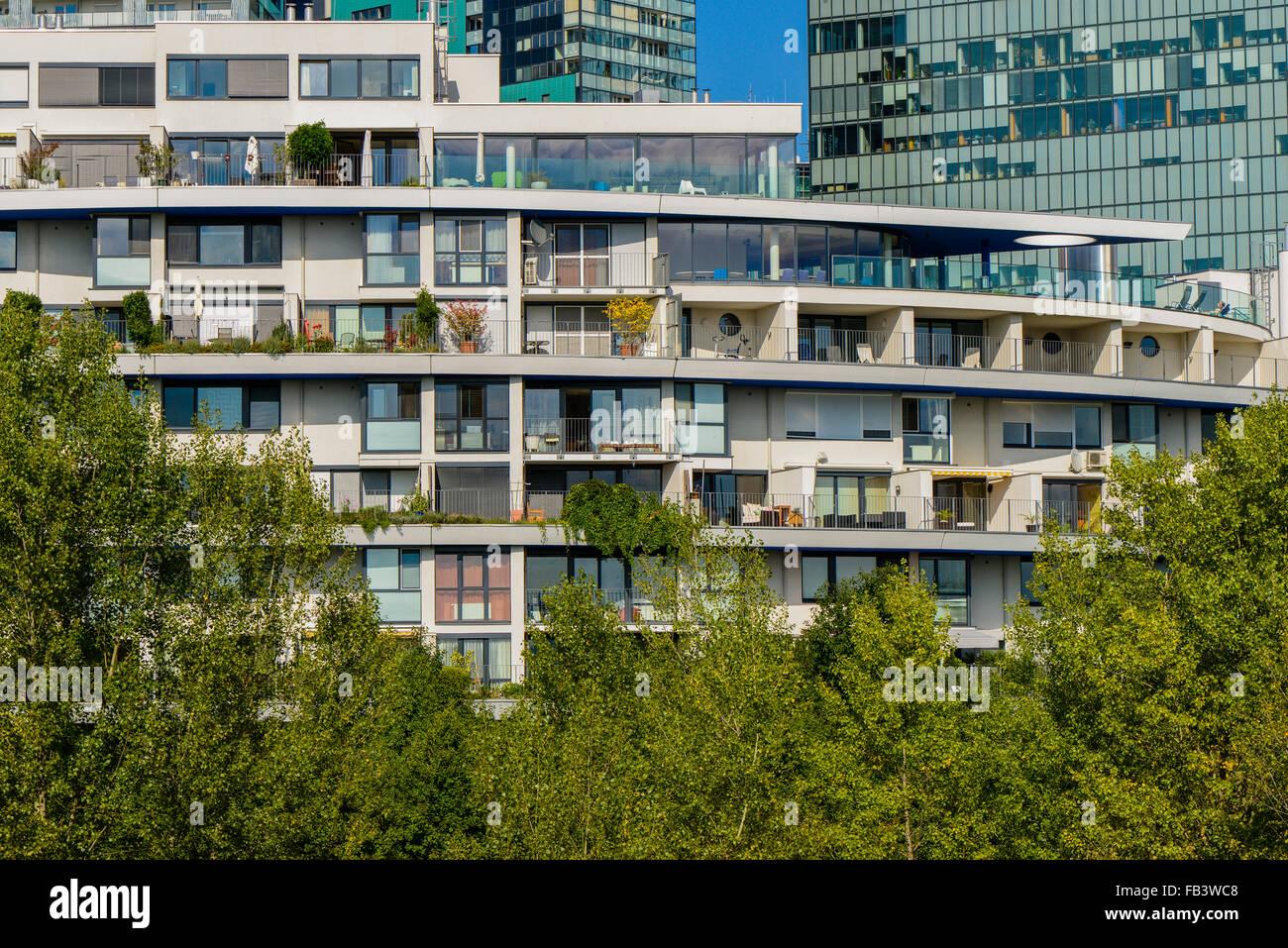 Urban living, Vienna Business Park, Wienerberg City, Wien, Vienna, Austria, 10. district - Stock Image