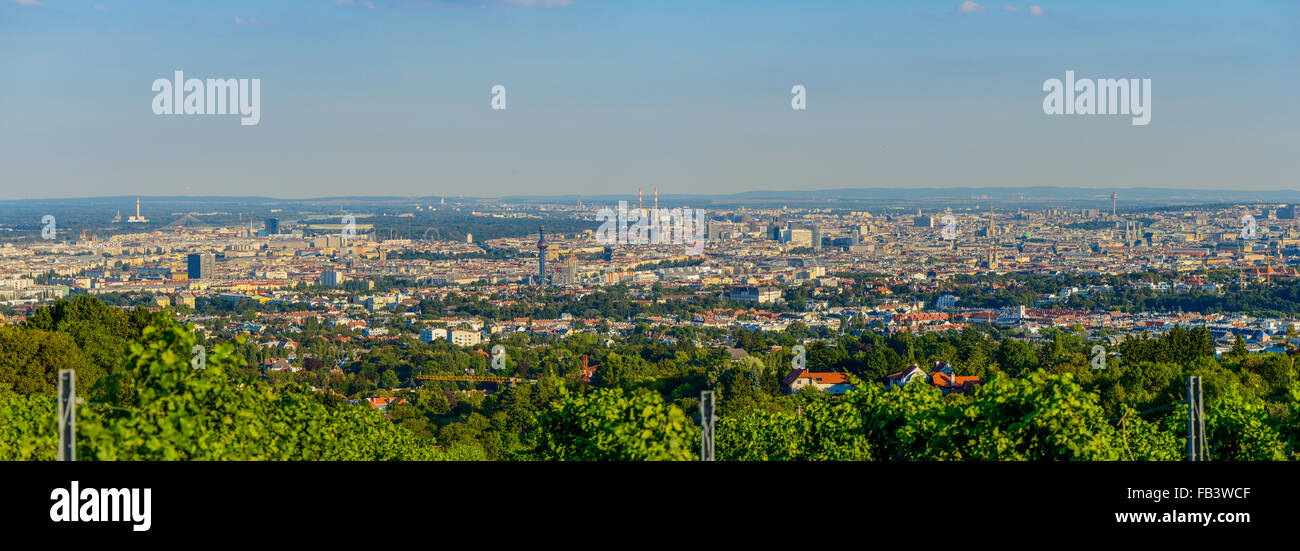 Wien, view from moutain Am Himmel, Vienna, Austria, Central Europe - Stock Image