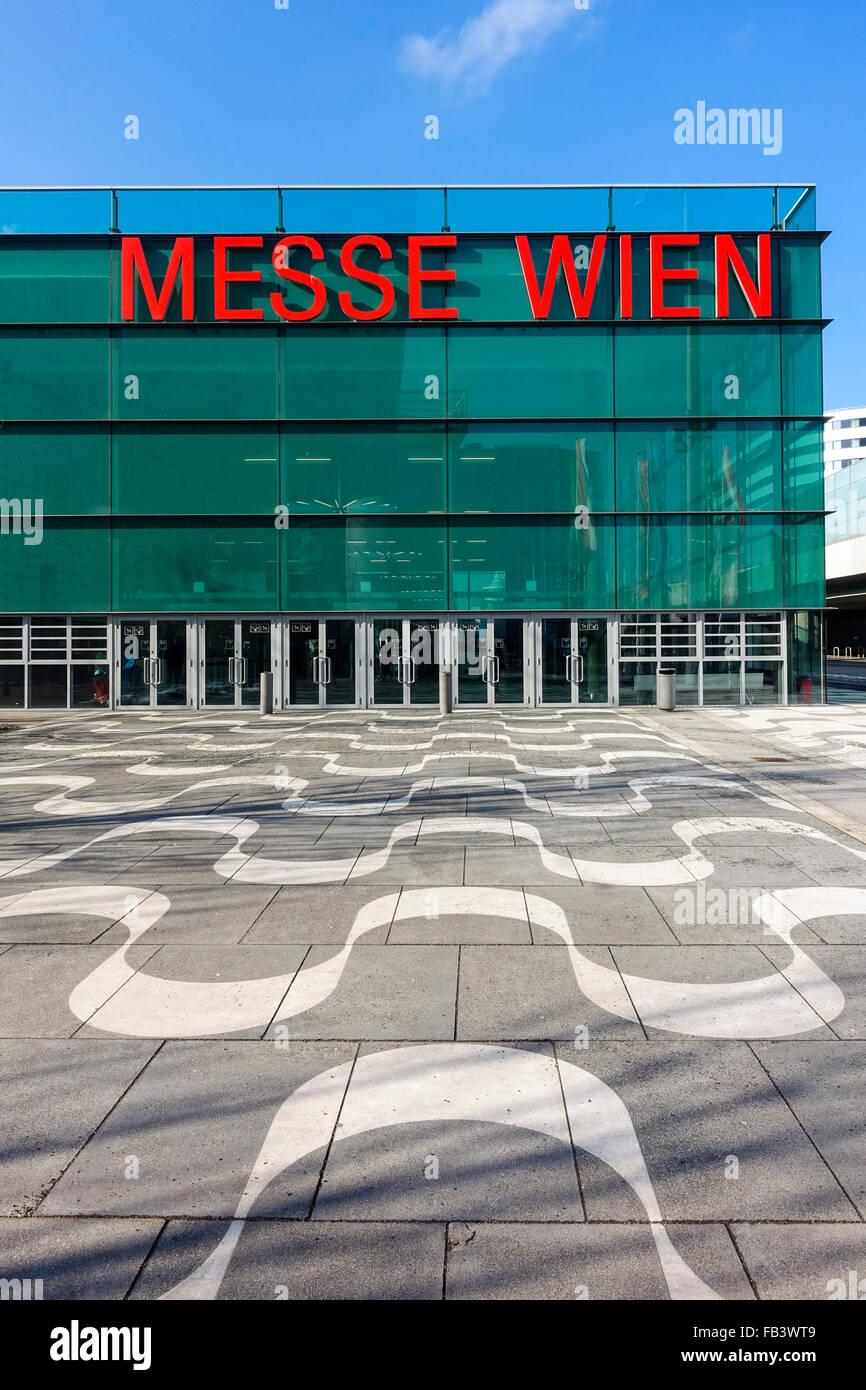 Reed Messe Wien, Vienna Fair, Modern architecture, Vienna, Austria, 2. district, fair ground - Stock Image