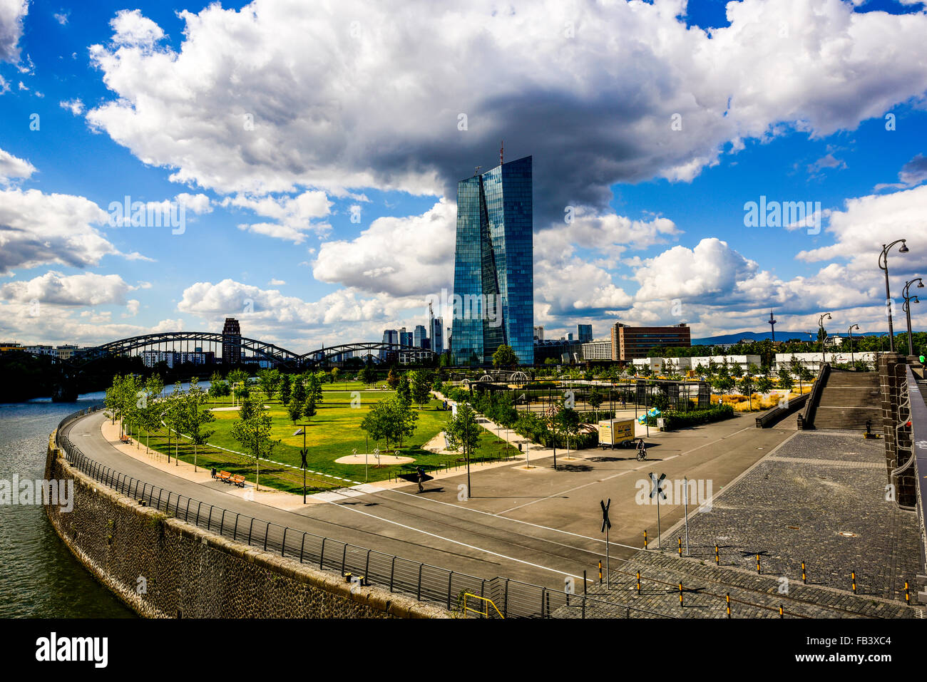 ECB, European Central Bank, Frankfurt, Germany, Hessen - Stock Image