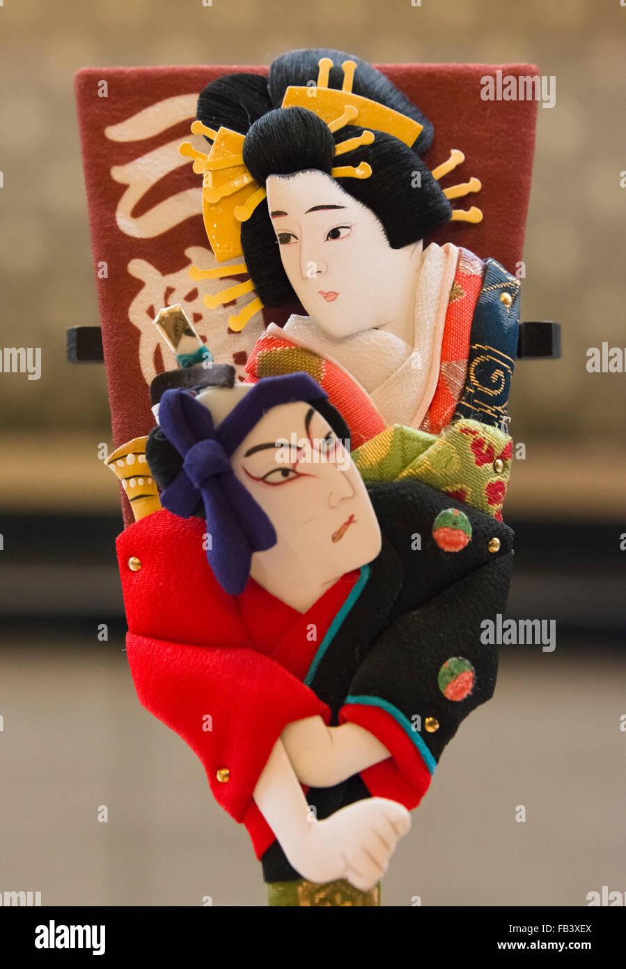 Decorated chopstick sleeve, Tokyo, Japan - Stock Image