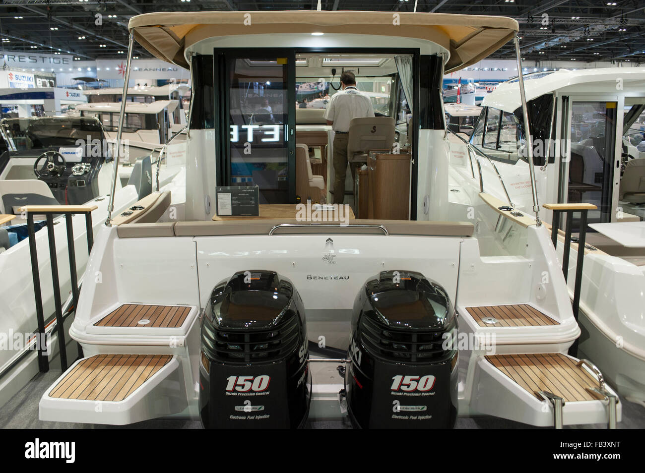 Opening day of the 62nd London Boat Show at Excel in London's Docklands with more than 400 brands from £300 - Stock Image