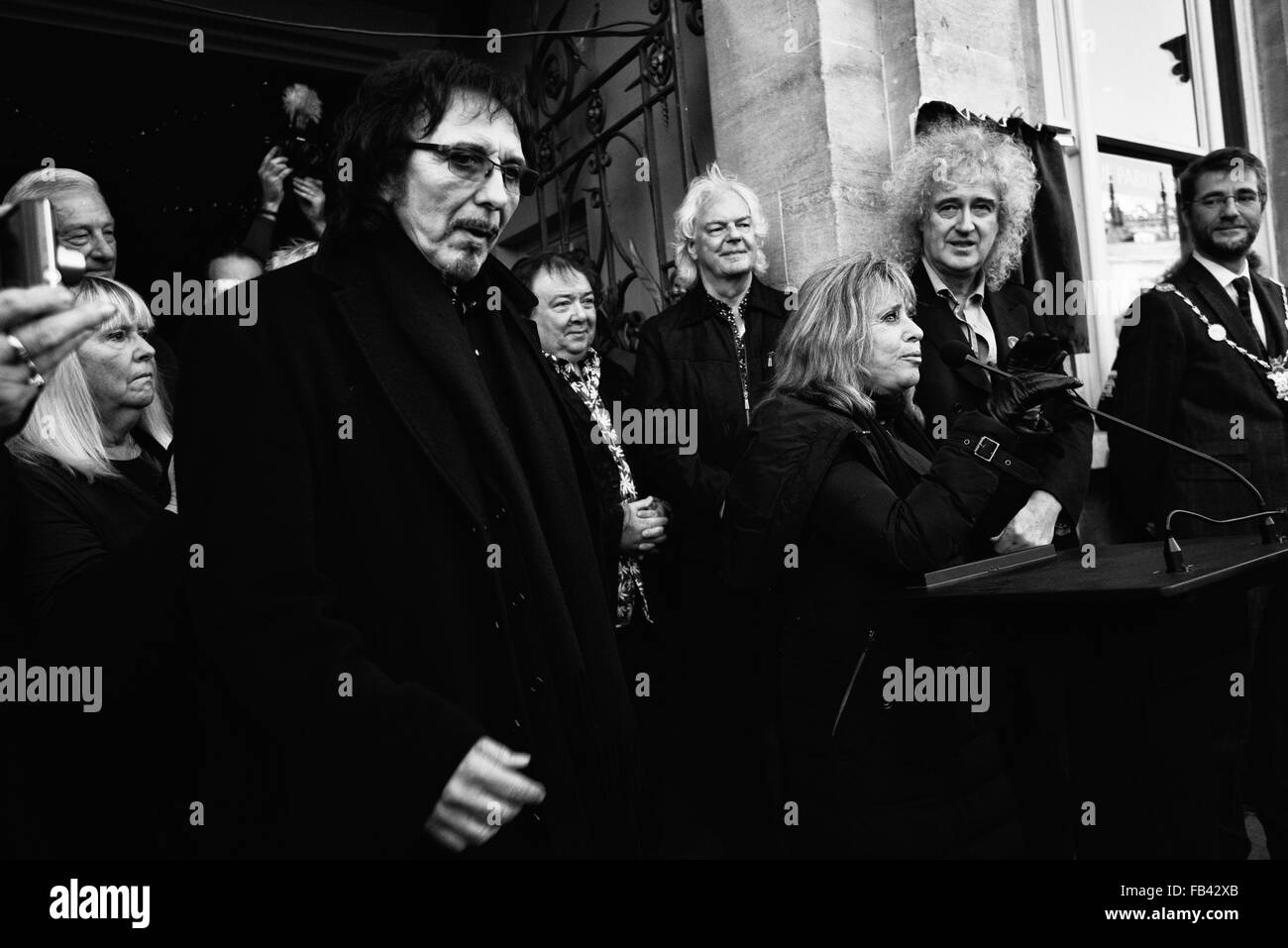 Blue Plaque Event In Cirencester 7/1/2016 To Commemorate Cozy Powell Drummer With Legendary Rock Groups With Dr - Stock Image