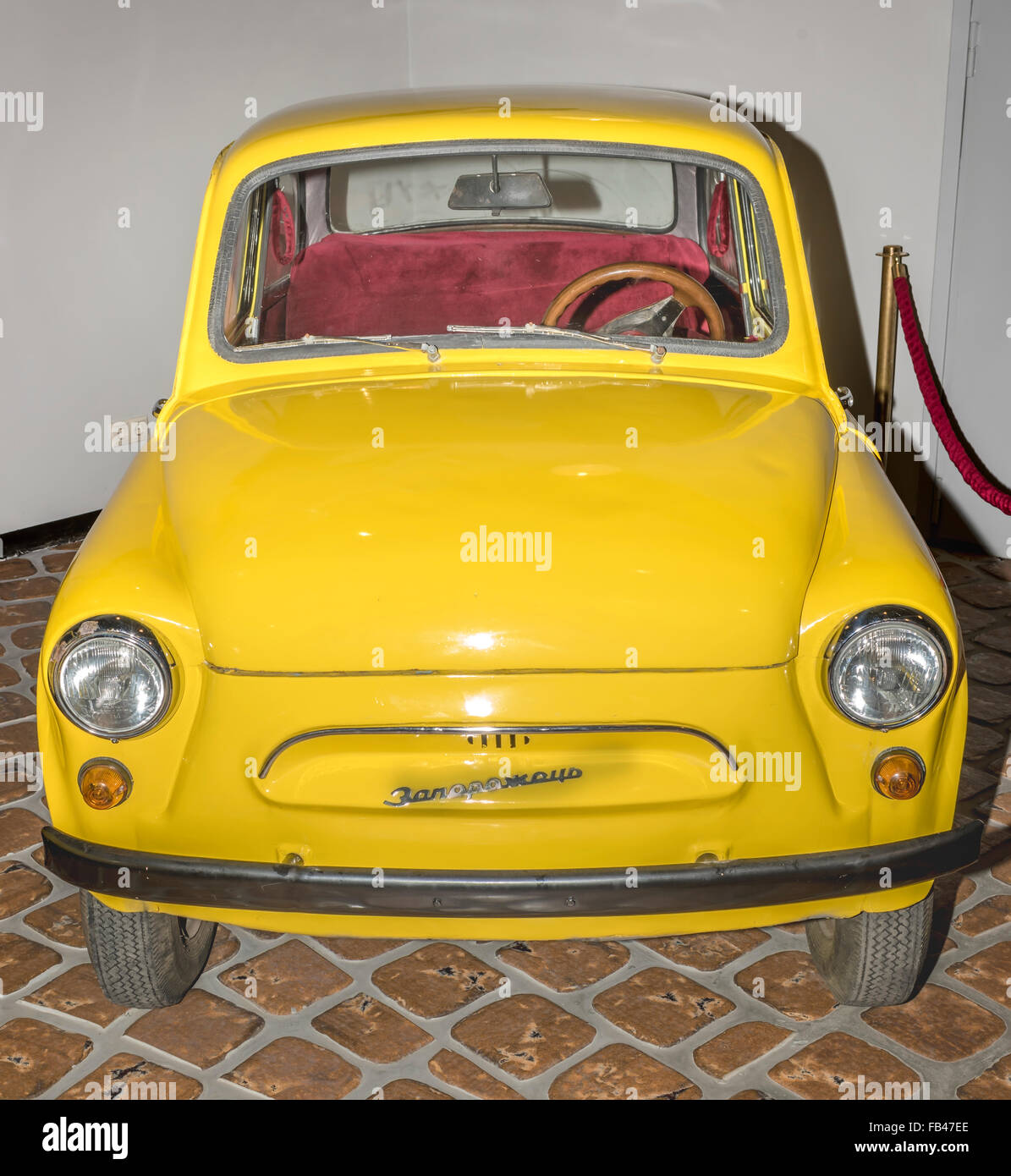Moscow; Russia- December 15; 2015: Soviet humpbacked 'Zaporozhets -965', year 1960-1969 at the Museum of - Stock Image