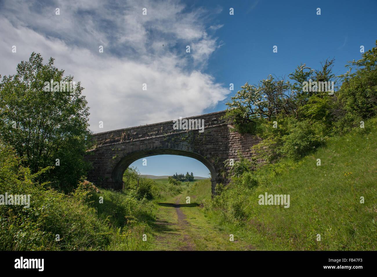 Dismantled Railway along Smardale - Stock Image