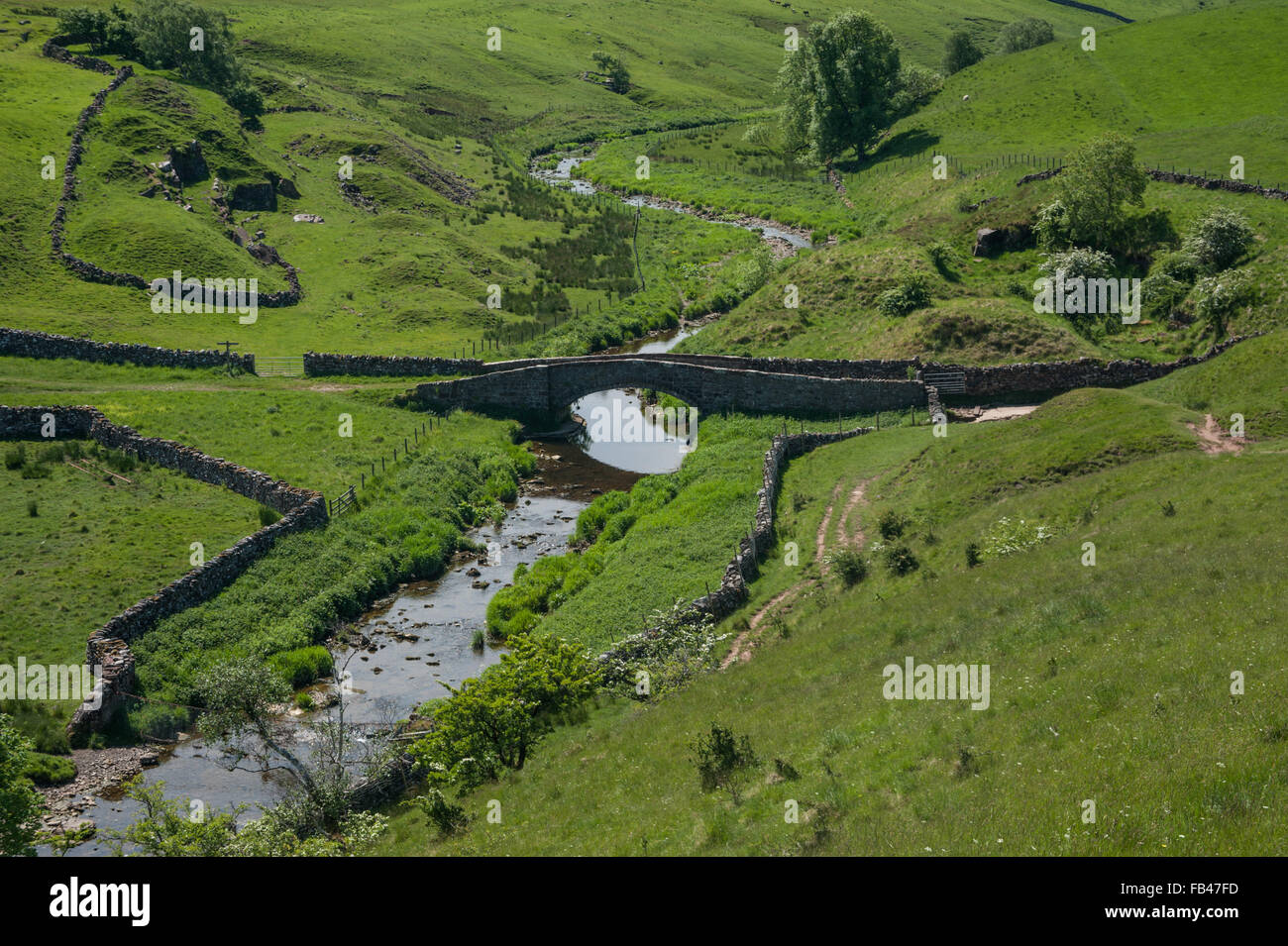 Smardale Bridge and Scandal Beck - Stock Image
