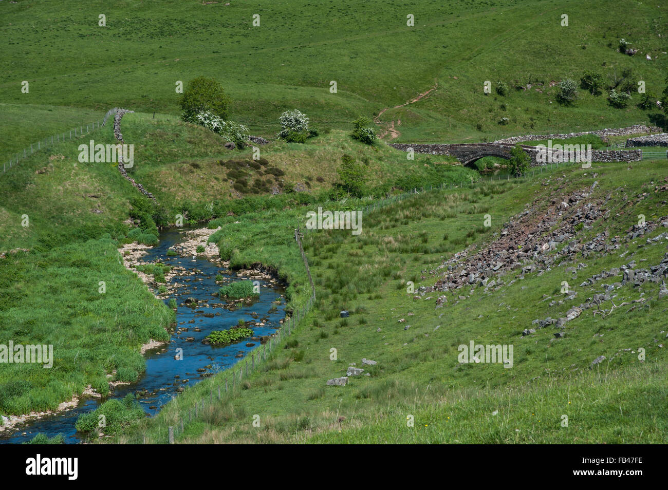 Smardale Bridge and Scandal Beck near Ravenstonedale in Cumbria - Stock Image