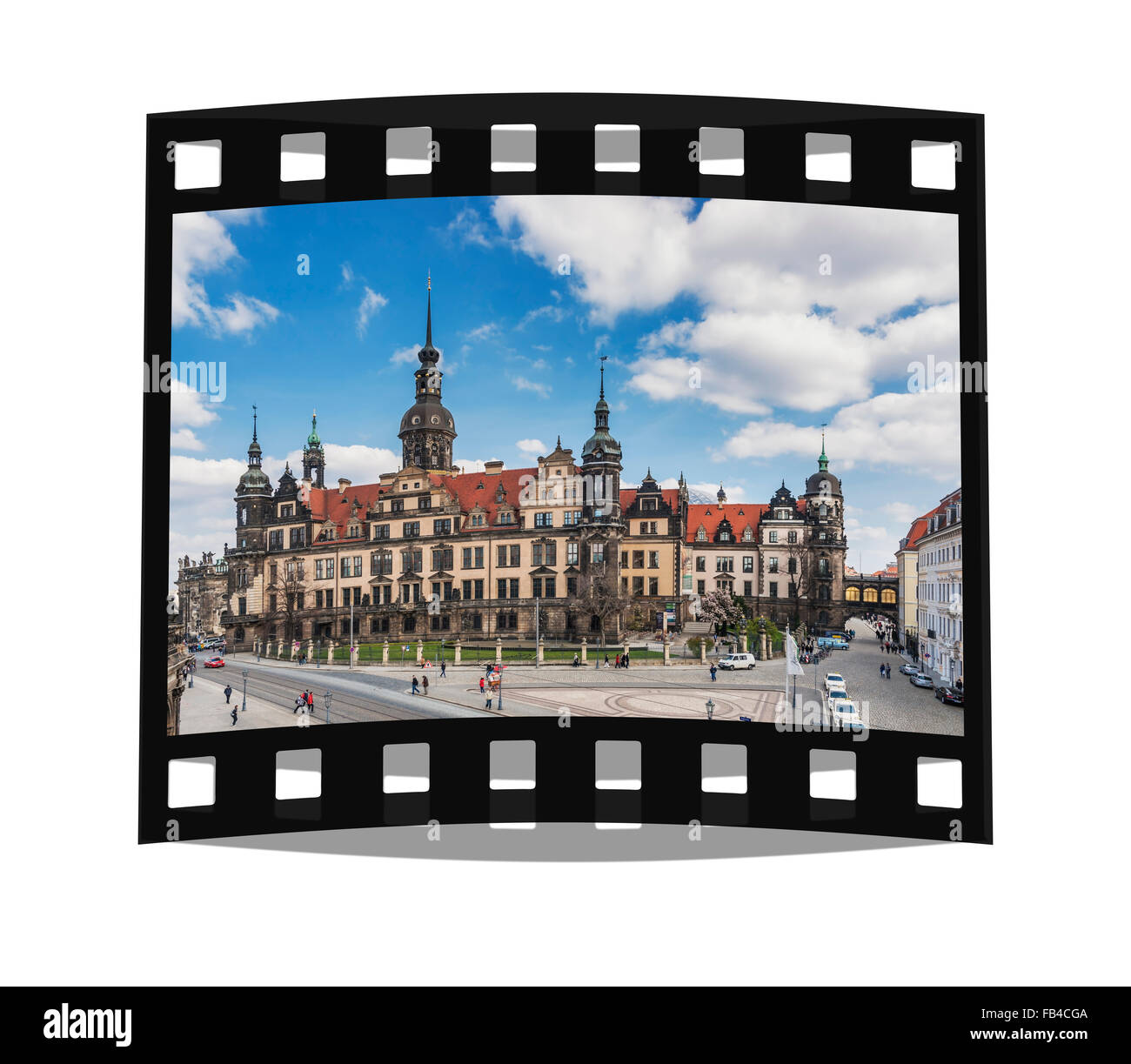 View to the Dresden Royal Palace, Dresden, Saxony, Germany, Europe - Stock Image