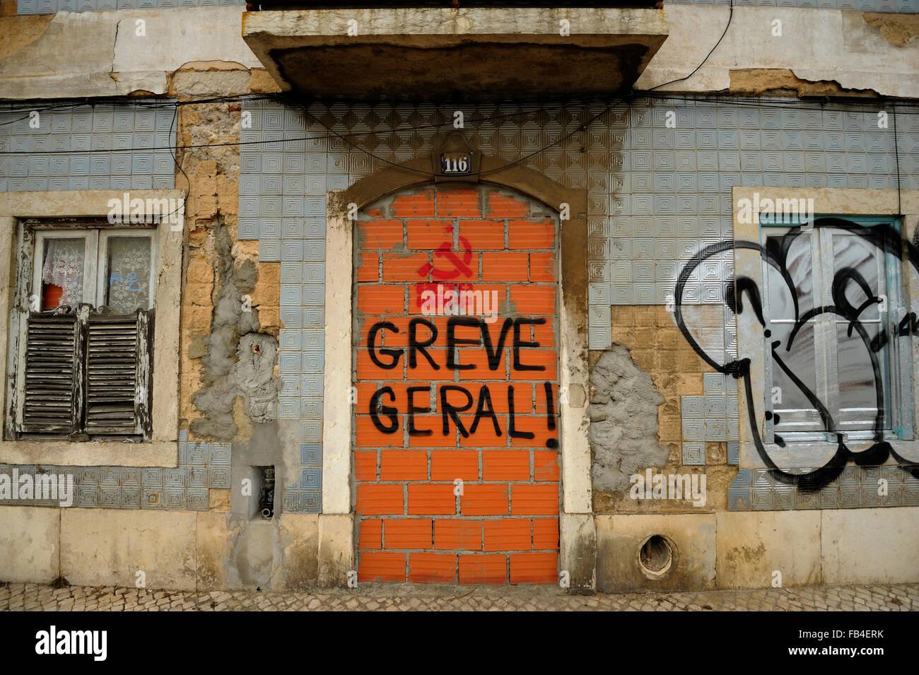 Rua da Junqueira, Belem, Lisboa, Estremadura, Portugal - Stock Image