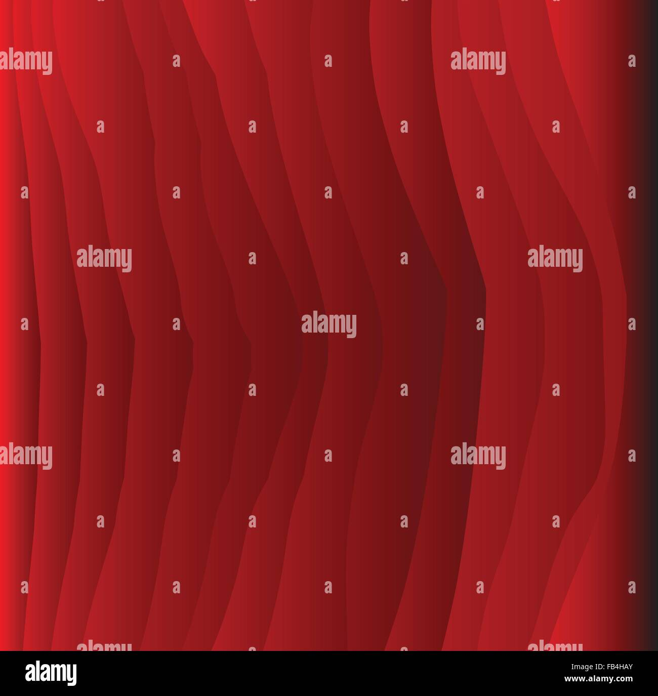 A red grained wood flat polished surface - Stock Vector