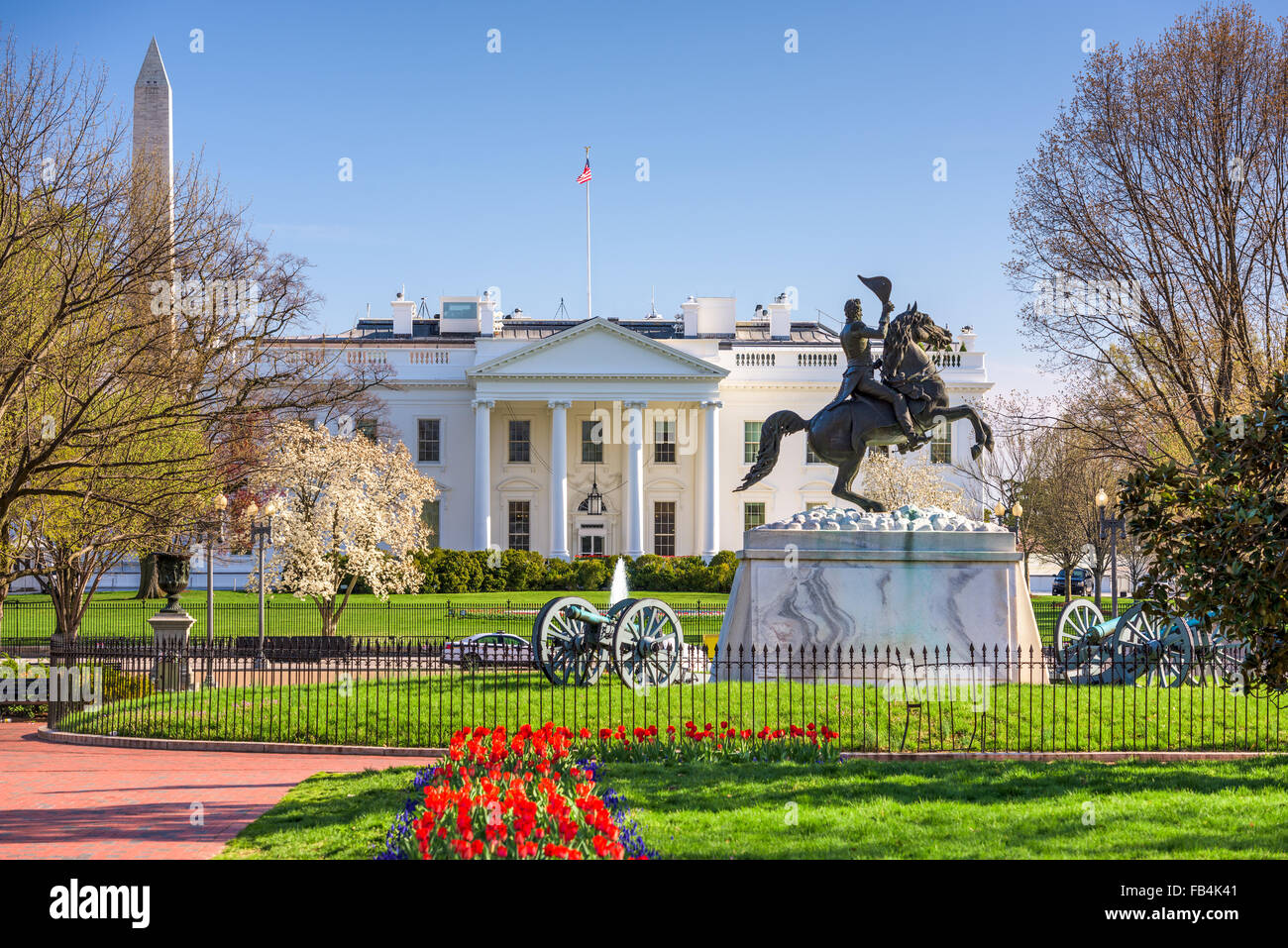 Washington, DC at the White House and Lafayette Square. - Stock Image